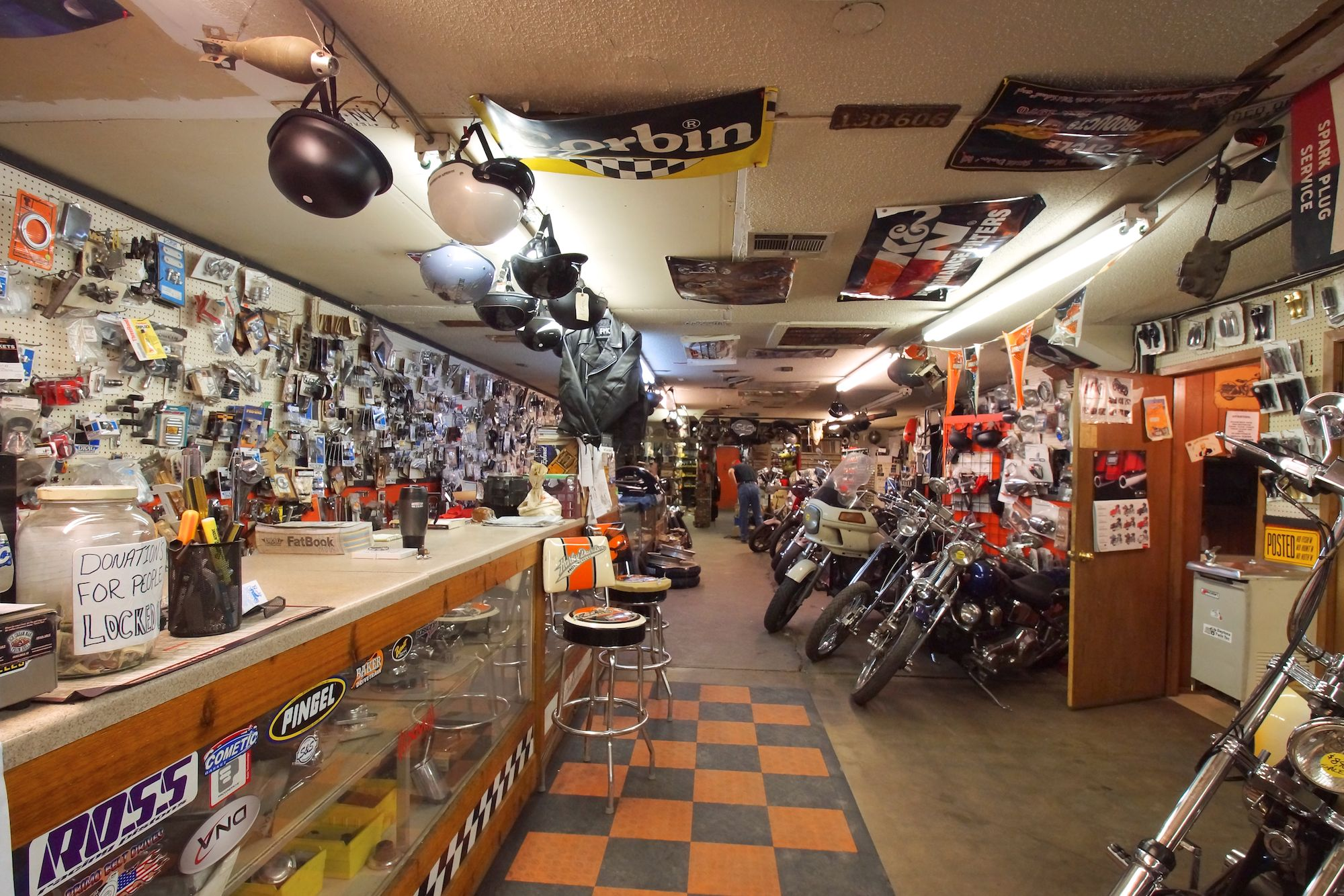 the motorcycle shop