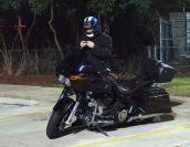 One brave biker on a bike!