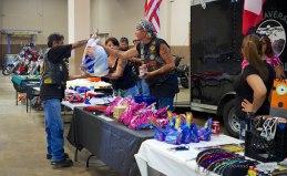 Carlos receiving donations