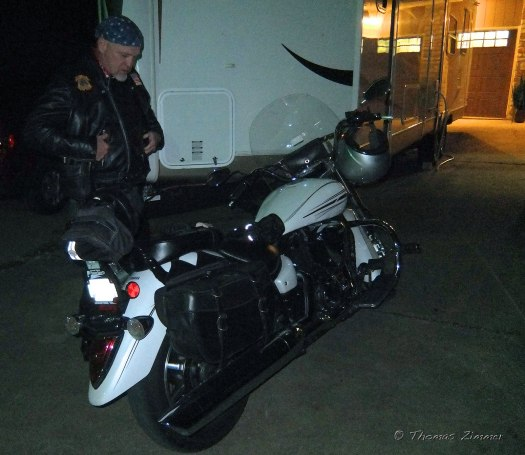 """All done, our """"real biker"""" is heading home."""