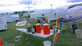Smashed Hospitality Tent, but serving hot coffee. Thanks Randy for the photo.
