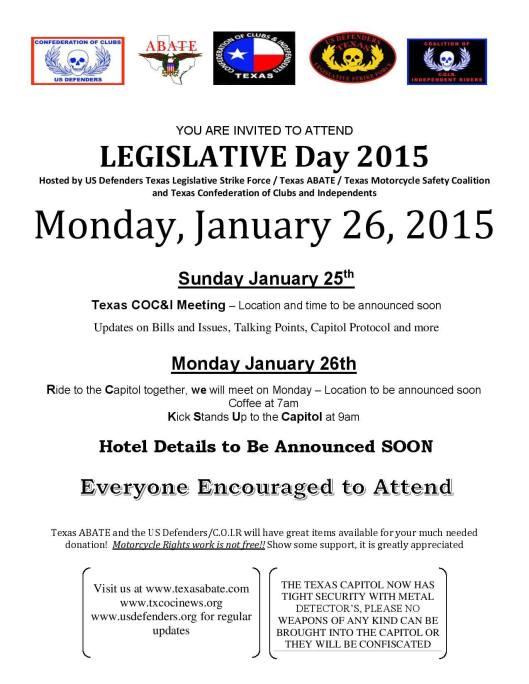 Legislative Day 2015