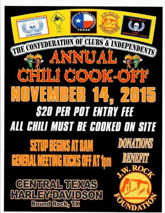 COC & I Region 1 2015 Chili Cook Off