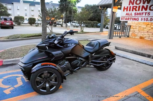Cool blacked out Can-Am